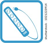 an icon of a power strip with a ... | Shutterstock .eps vector #1021223914