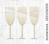 champagne glass illustration | Shutterstock . vector #1021226533