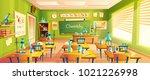 vector cartoon background with... | Shutterstock .eps vector #1021226998