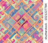 seamless background pattern.... | Shutterstock .eps vector #1021227784