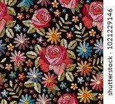Embroidery Seamless Pattern...