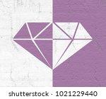 diamond symbol design | Shutterstock . vector #1021229440