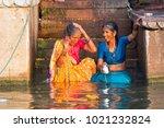 varanasi  india   march 18 ...   Shutterstock . vector #1021232824