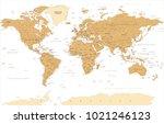 political vintage golden world... | Shutterstock .eps vector #1021246123