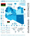 libya infographic map and flag  ... | Shutterstock .eps vector #1021246153