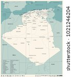 algeria map   vintage high... | Shutterstock .eps vector #1021246204