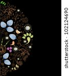 stylish floral background  hand ... | Shutterstock .eps vector #102124690