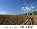 Plowed Field In Spring Time...