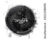 grunge circle watercolor... | Shutterstock .eps vector #1021258090