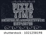 vintage font typeface... | Shutterstock .eps vector #1021258198