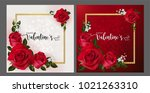 valentine's day greeting card... | Shutterstock .eps vector #1021263310