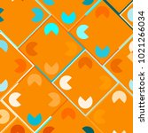 colorful mosaic background with ... | Shutterstock .eps vector #1021266034
