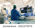 catheter ablation used to treat ... | Shutterstock . vector #1021273570