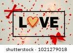 banner for valentine's day. top ... | Shutterstock . vector #1021279018