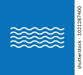waves vector icon. vector... | Shutterstock .eps vector #1021287400