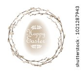 willow branches wreath isolated ...   Shutterstock .eps vector #1021287943
