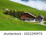 idyllic switzerland alpine...   Shutterstock . vector #1021290973