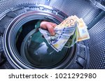 money laundering in a washing...   Shutterstock . vector #1021292980