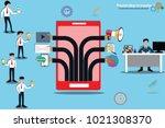 business success concept... | Shutterstock .eps vector #1021308370