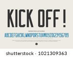 minimalist style alphabet... | Shutterstock .eps vector #1021309363