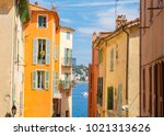 colorful buildings in nice on...   Shutterstock . vector #1021313626