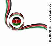 kenyan flag wavy abstract... | Shutterstock . vector #1021321930