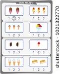 worksheet for preschool... | Shutterstock .eps vector #1021322770
