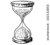 sand glass clock. hand drawing...   Shutterstock .eps vector #102132853