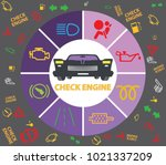 set of multiple car instrument... | Shutterstock .eps vector #1021337209