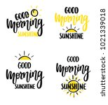 good morning sunshine nice... | Shutterstock .eps vector #1021339018