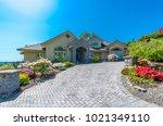 big custom made luxury house...   Shutterstock . vector #1021349110