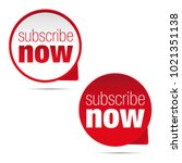 subscribe now button sign   Shutterstock .eps vector #1021351138