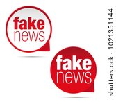 fake news label sticker set | Shutterstock .eps vector #1021351144