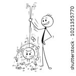 cartoon stick man drawing... | Shutterstock .eps vector #1021355770
