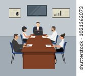 office workers during the... | Shutterstock . vector #1021362073