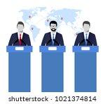 election debates  dispute ... | Shutterstock .eps vector #1021374814