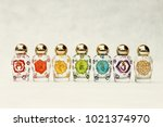 glass jars with the symbols of... | Shutterstock . vector #1021374970