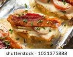 homemade baked kentucky hot... | Shutterstock . vector #1021375888
