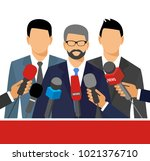 live report concept. press...   Shutterstock .eps vector #1021376710