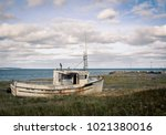 Old Abandon Wooden Boat