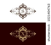 luxury letter logo  luxury... | Shutterstock .eps vector #1021404763