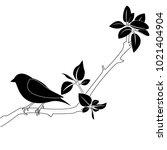 illustration of a bird on a... | Shutterstock .eps vector #1021404904