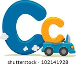 Illustration Featuring the Letter C - stock vector