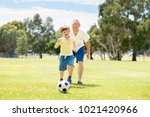 young happy father and excited... | Shutterstock . vector #1021420966