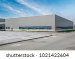 modern factory buildings and... | Shutterstock . vector #1021422604