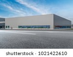 modern factory buildings and... | Shutterstock . vector #1021422610