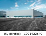 modern factory buildings and... | Shutterstock . vector #1021422640