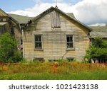 large  unsafe abandoned...   Shutterstock . vector #1021423138