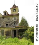 large  unsafe abandoned...   Shutterstock . vector #1021423150