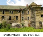 large  unsafe abandoned...   Shutterstock . vector #1021423168